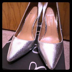 Banana Republic Delphine Metallic Silver heels